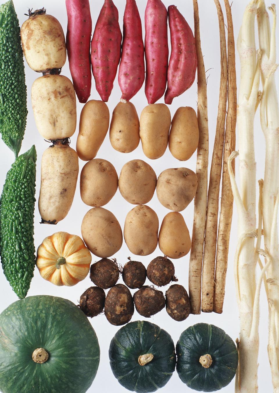 Autumn border of vegetables