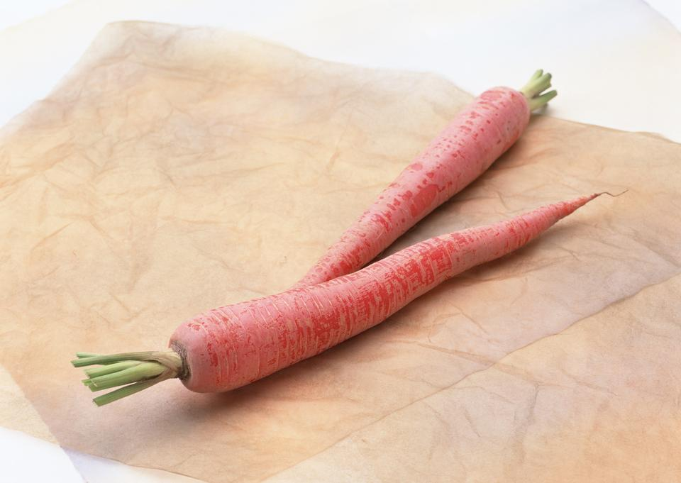 Carrots on paper