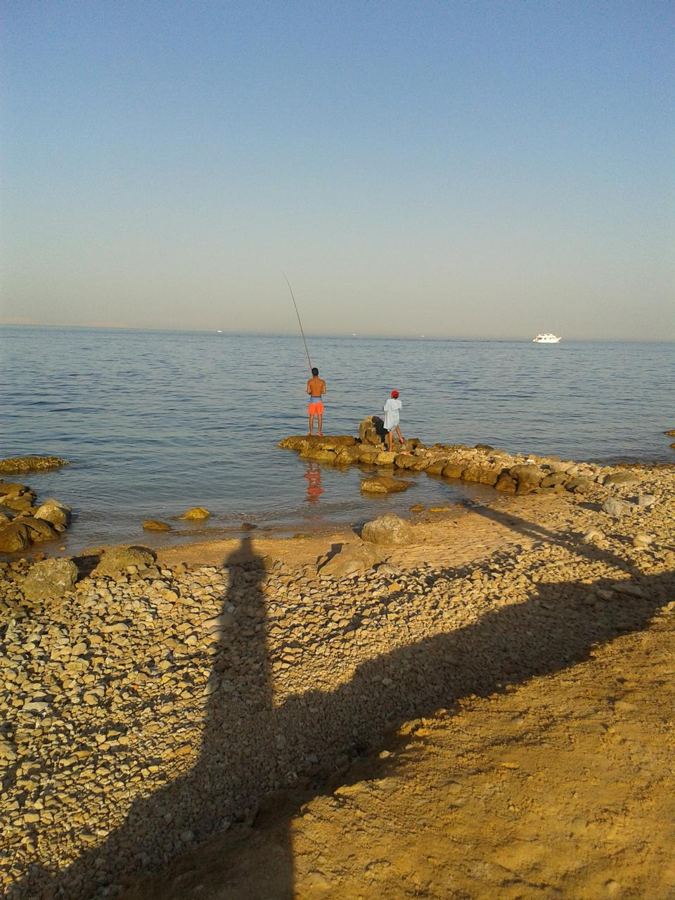 Someone fishing in Red Sea