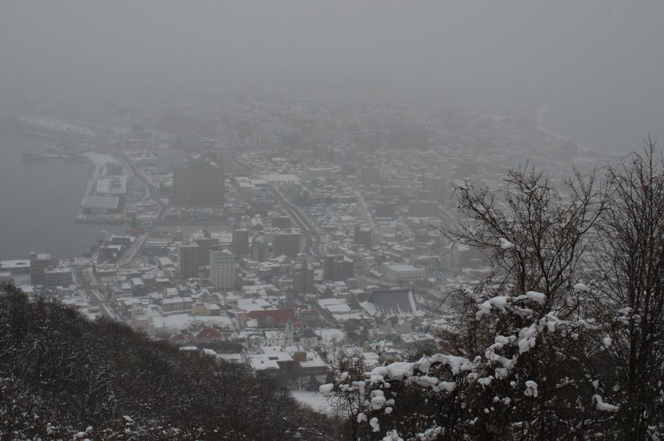 雪の日に函館