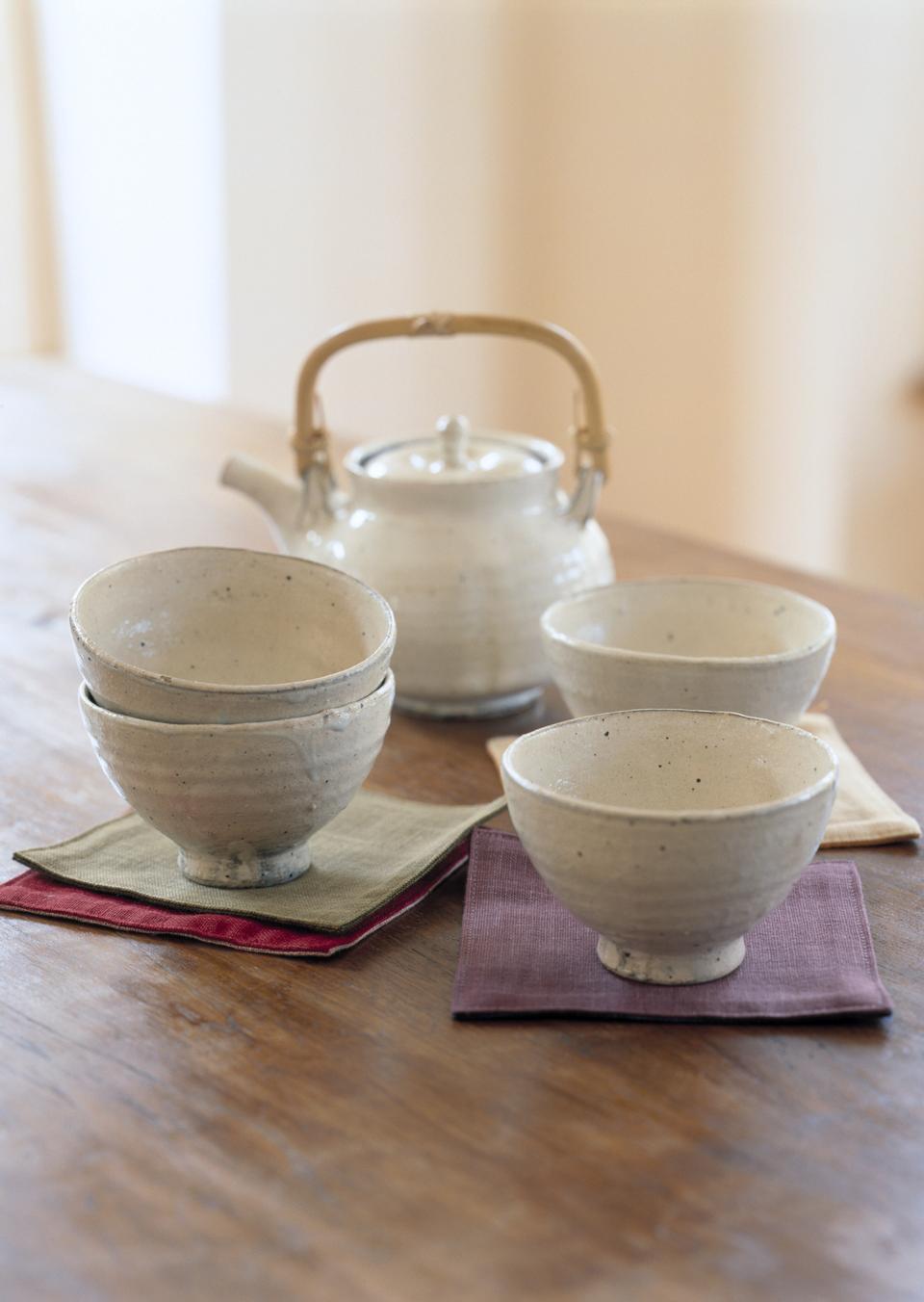 Elegant oriental tea set