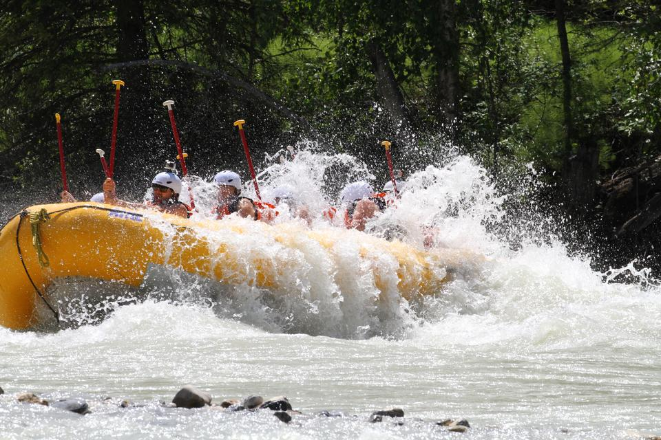 White water rafting on Fraser River