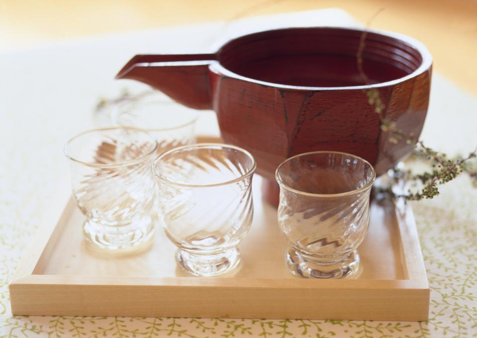 Japanese glass of sake