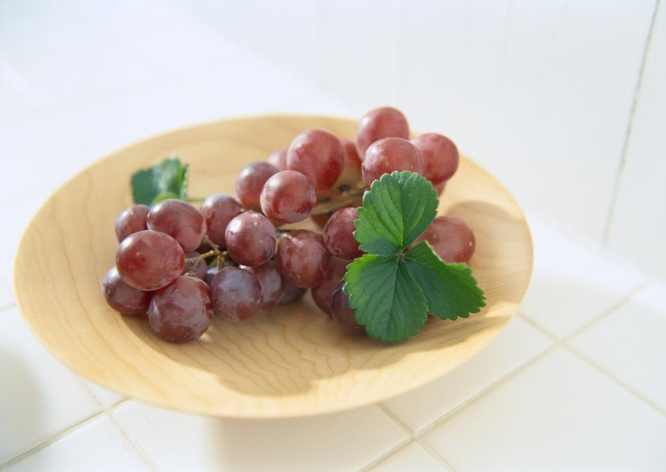 Fresh grape on plate