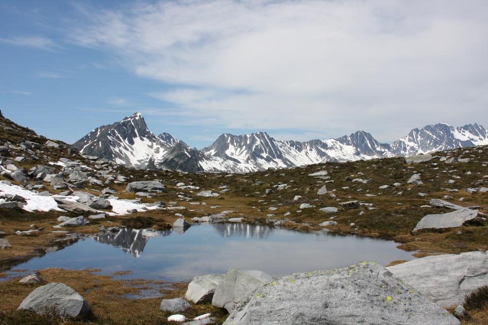 Montagne rocciose a Whistler, in Canada.