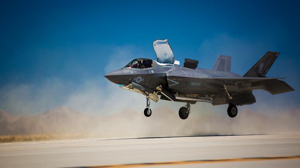 An F-35B Lightning II with Marine Fighter Attack