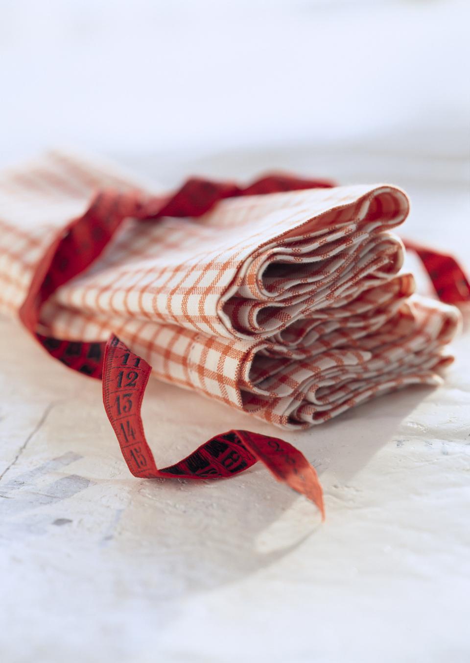 Красный салфетка
