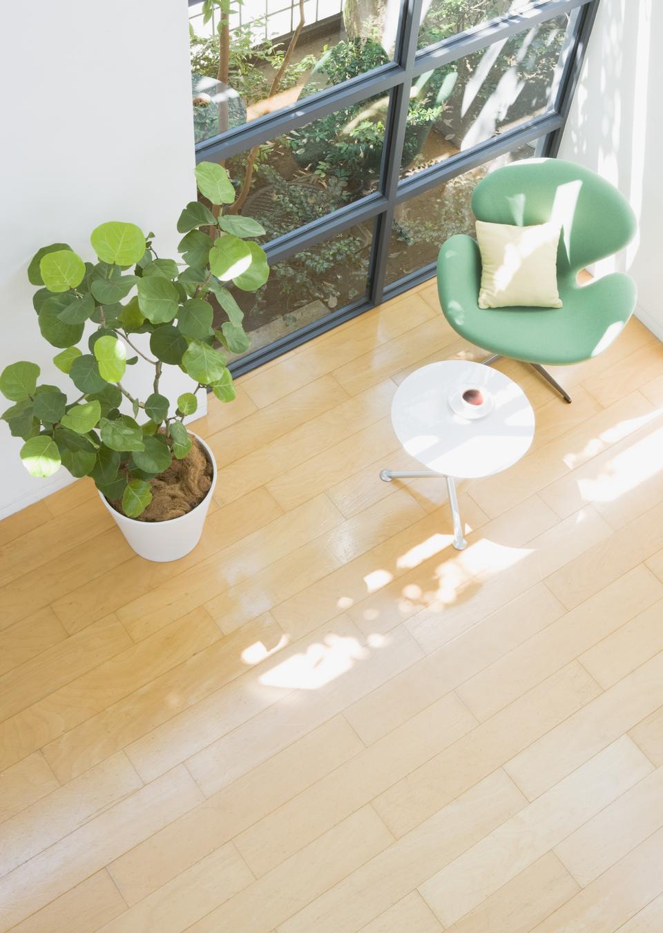 テーブルは次の庭に家の中で植物の部屋の議長を務めます