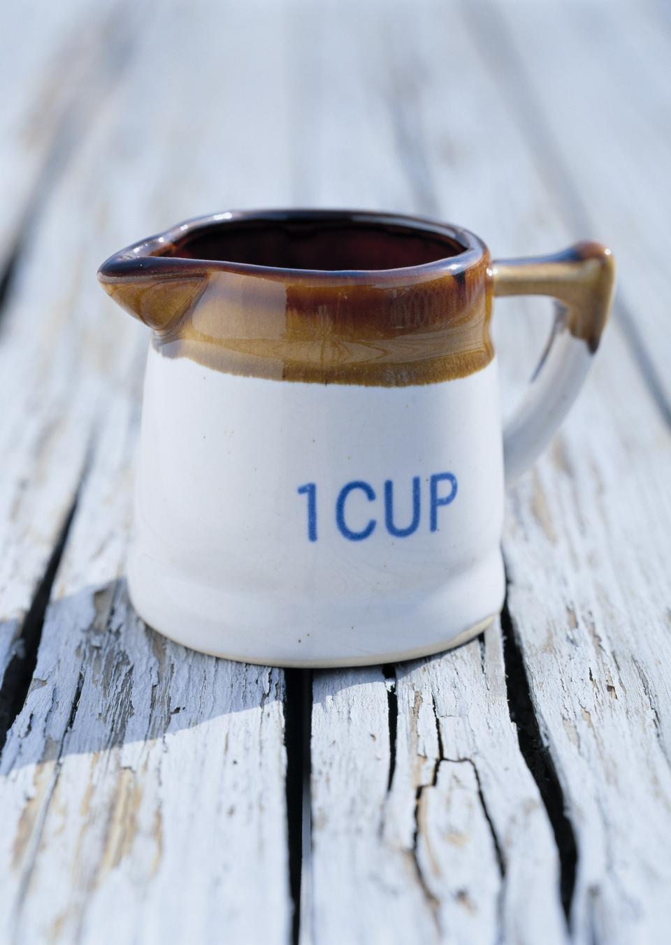 mug on wooden background