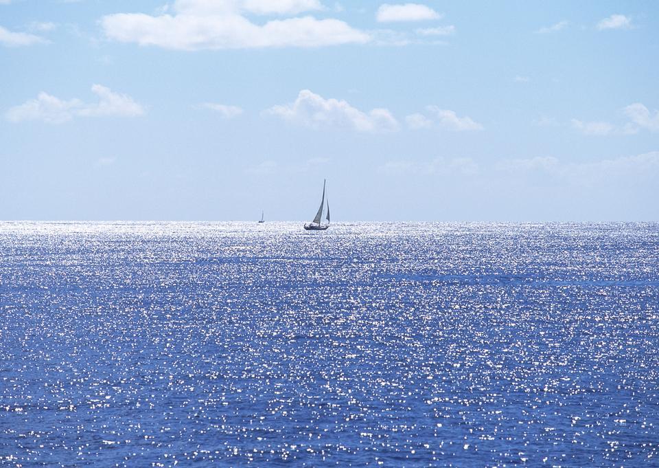 Yacht over ocean water