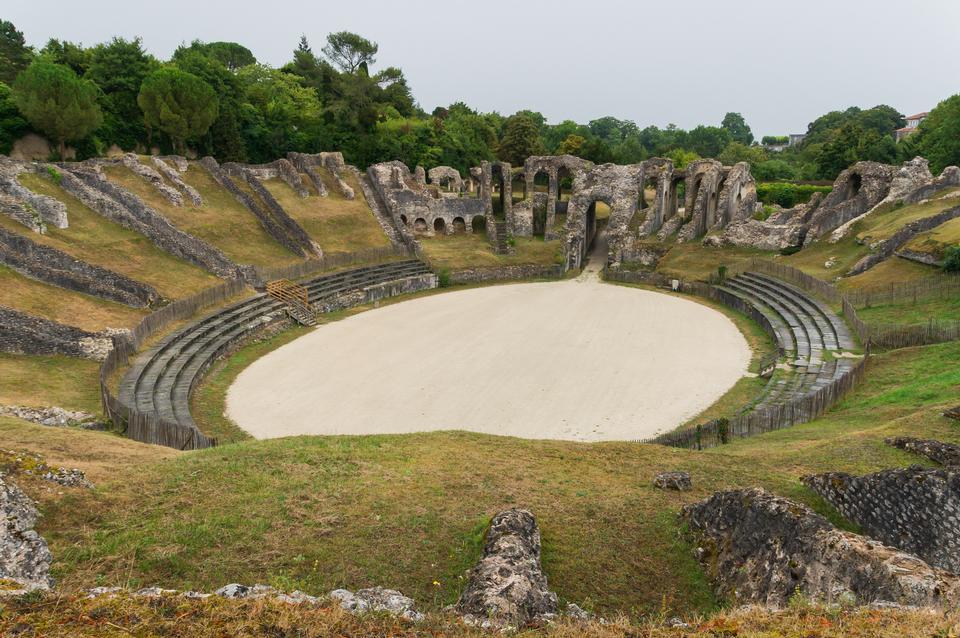 Saintes Amphitheater Detail France