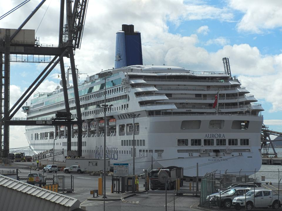 Cruise ship Aurora at Port of Burnie