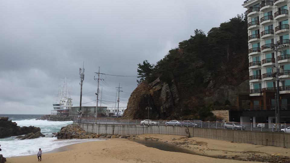 Spiaggia tropicale Uljin Corea del Sud