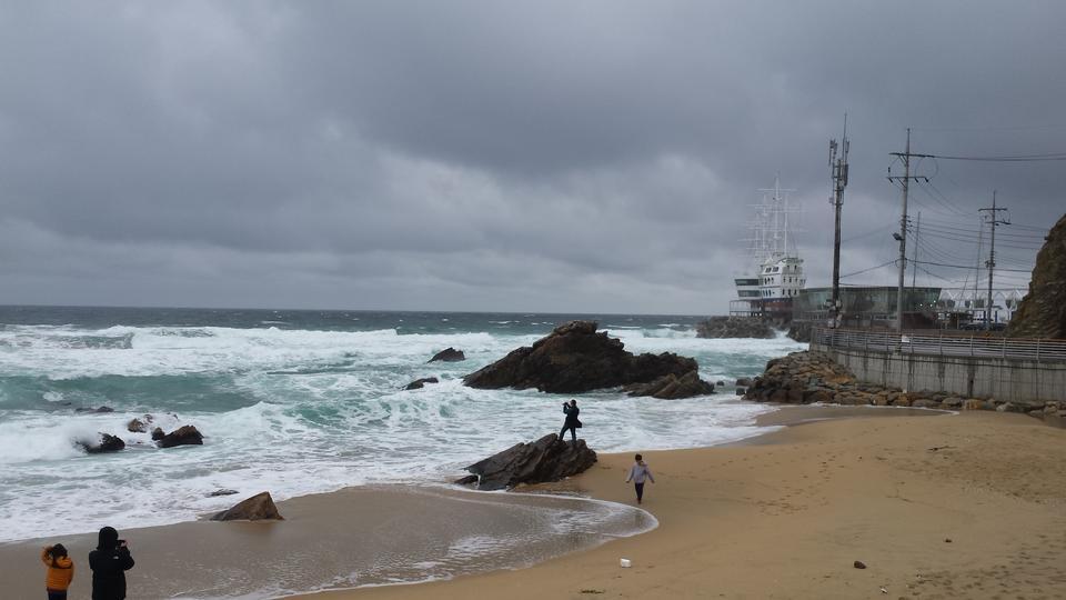 Tropical beach Uljin South Korea
