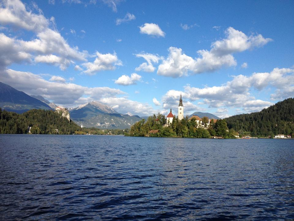 Lake Bled view from above Slovenia