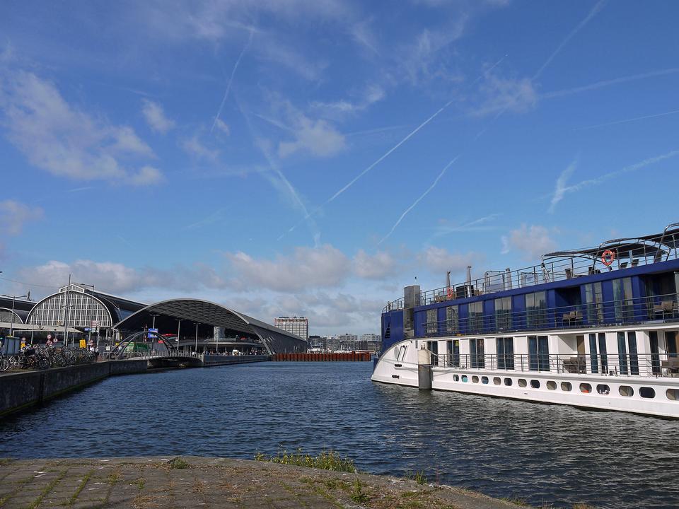 passenger cruise ship on River