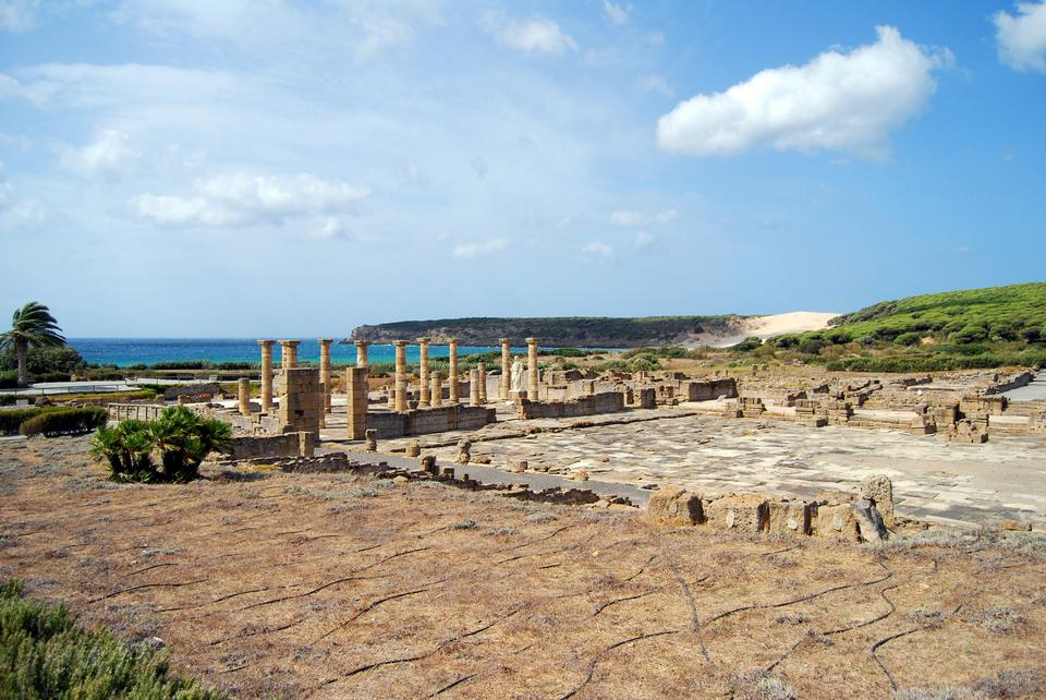 Ruins Roman of Baelo Claudia in Bolonia beach, Cadiz