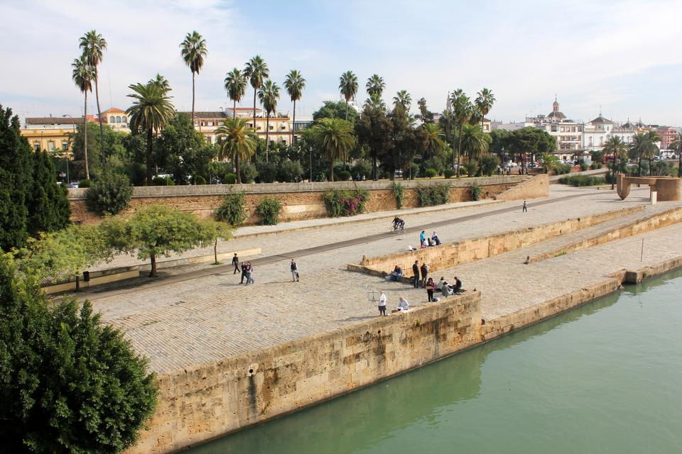 Seville and the Guadalquivir river