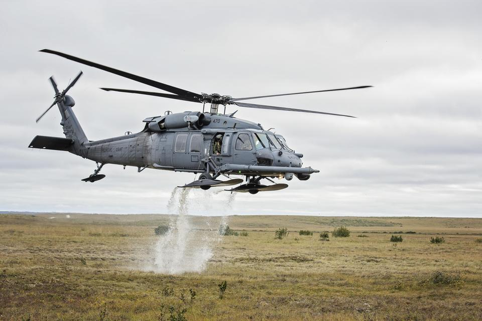 An HH-60 Pave Hawk helicopter