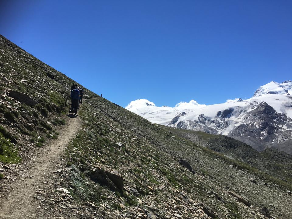 Trailing and hiking in the Alps and Zermatt Switzerland