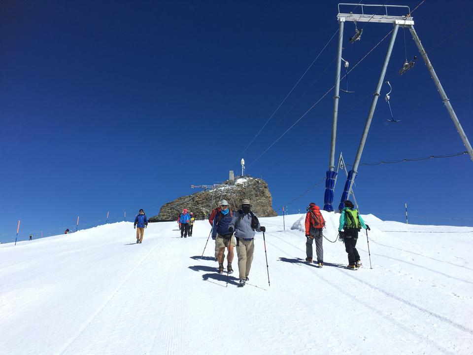 The slopes of Zermatt Ski Paradise  Zermatt Switzerland