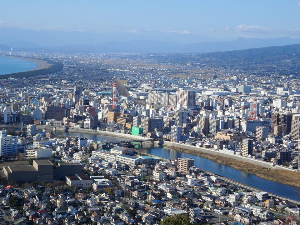 Vista de Numazu, Japón