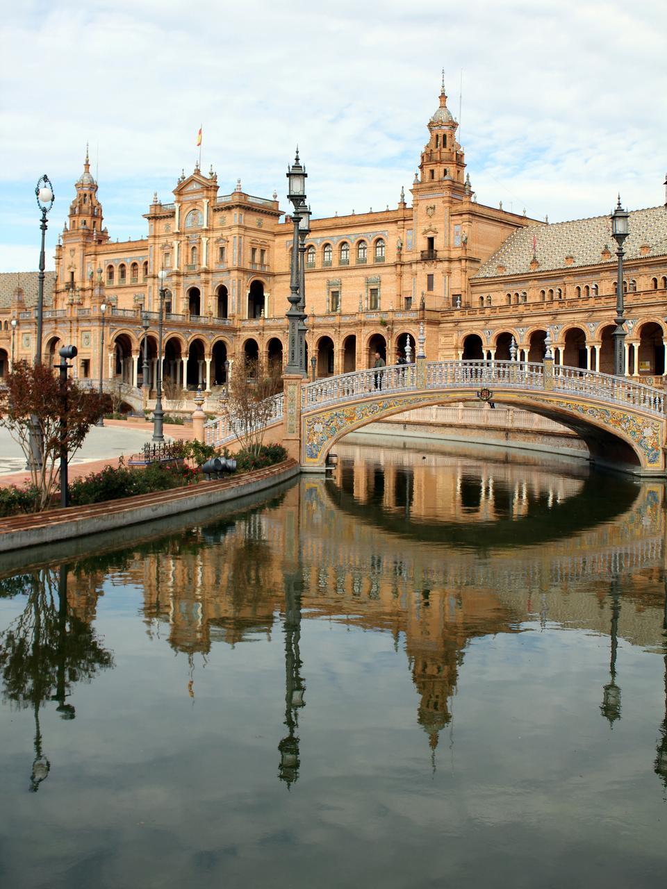 bella Plaza de Espana, Siviglia, Spagna