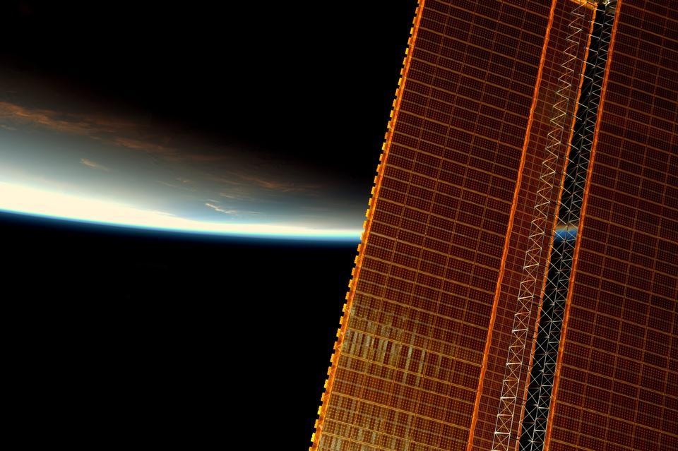 Sunrise With Solar Array