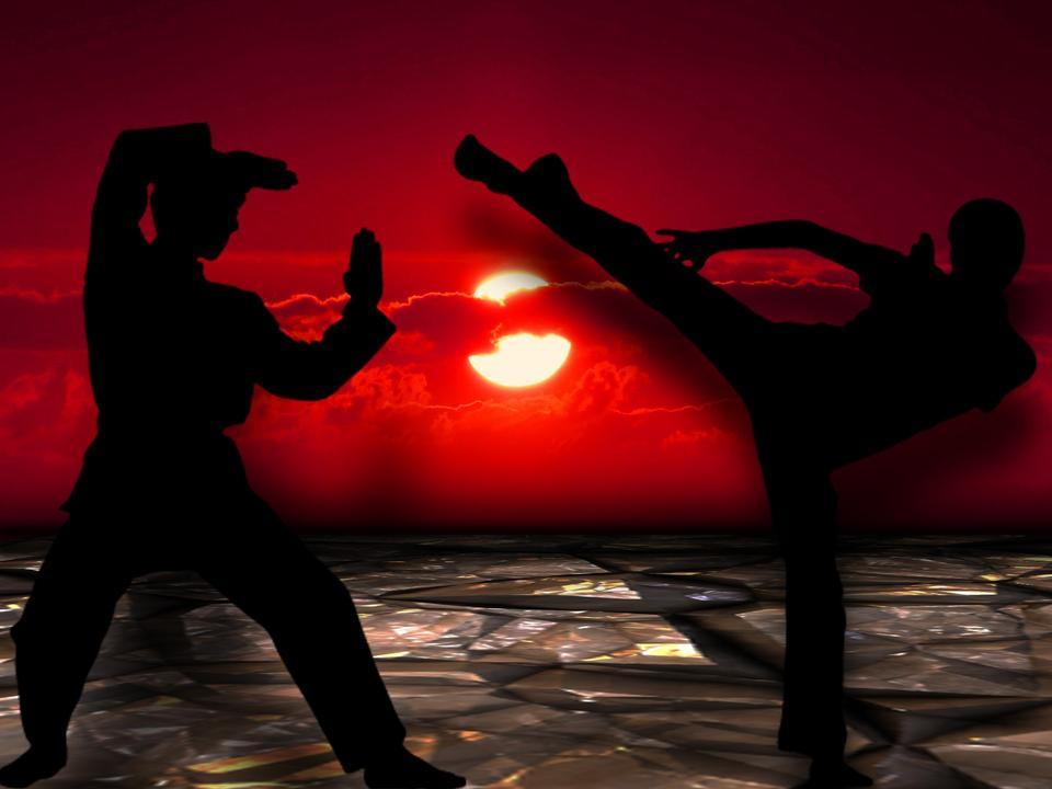Muay thai, Thai Boxer in sunset background
