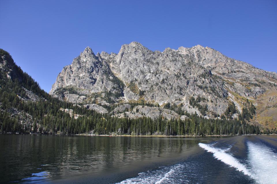 珍妮湖在大提顿国家公园,怀俄明州