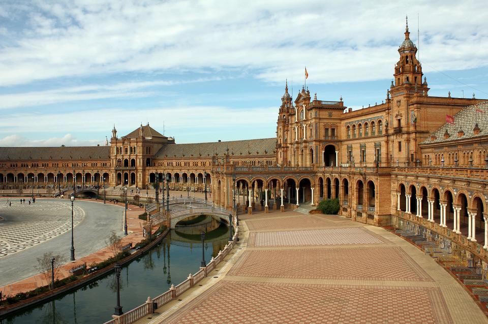 Spain, Seville. Spain Square, a landmark