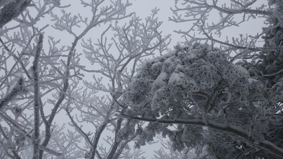 montagnes Deogyusan est couvert par la neige en hiver, la Corée du Sud