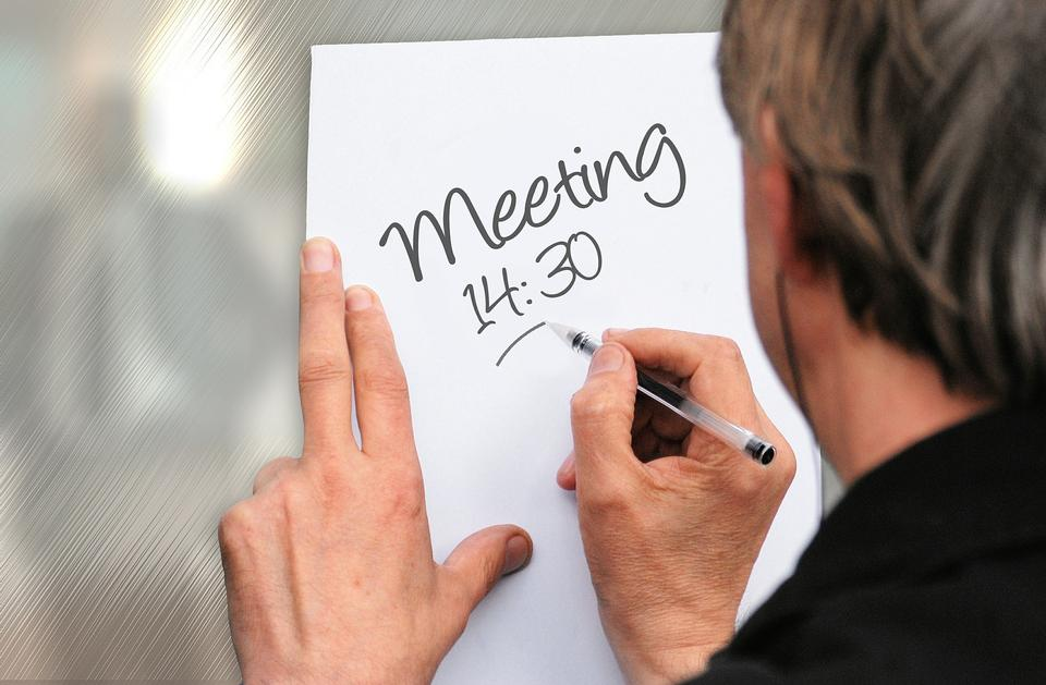 ミーティングを書く人