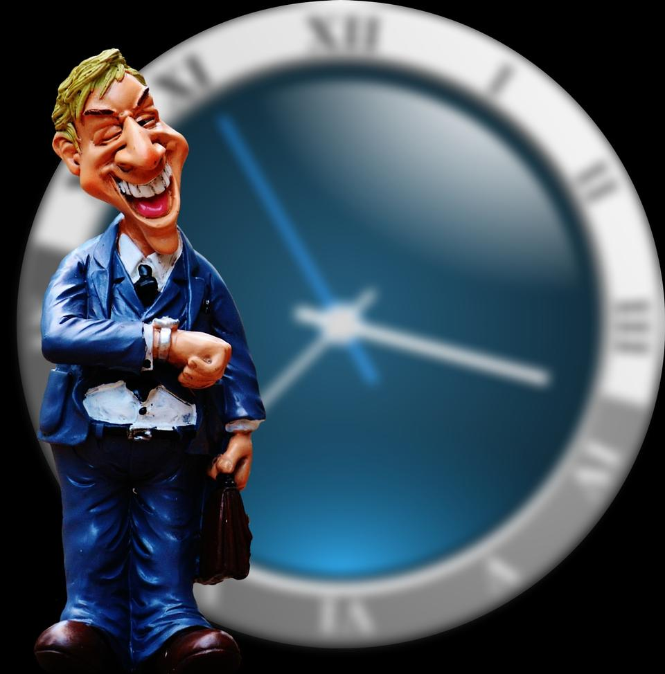 The business man dolls with watch