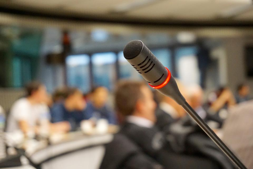 microphone on meeting table