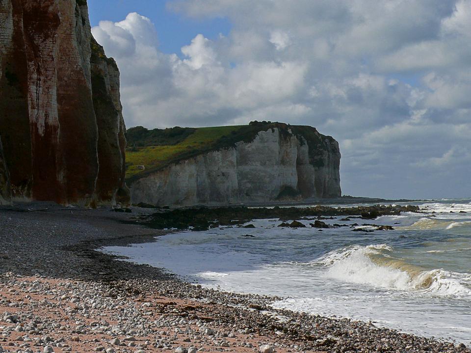 Cliffs in Les Petites-Dalles, Normandy