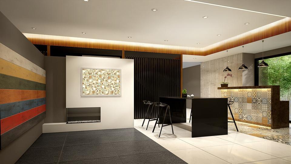 漂亮的客厅架构商业图片