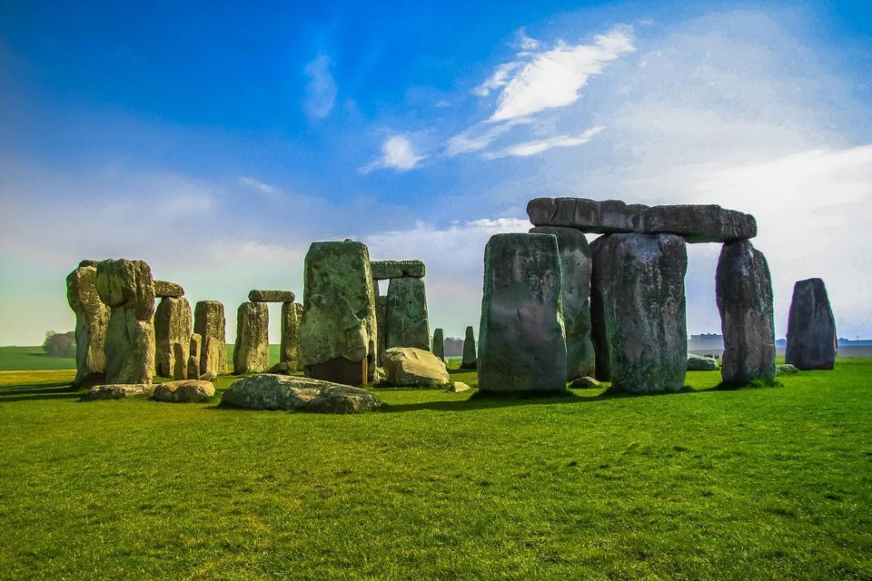 Stonehenge un antico monumento di pietra preistorico vicino a Salisbury,