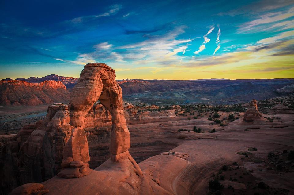 精致拱门的拱门国家公园美国犹他州