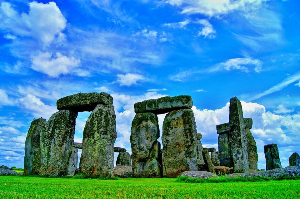 巨石阵在英格兰威尔特郡。