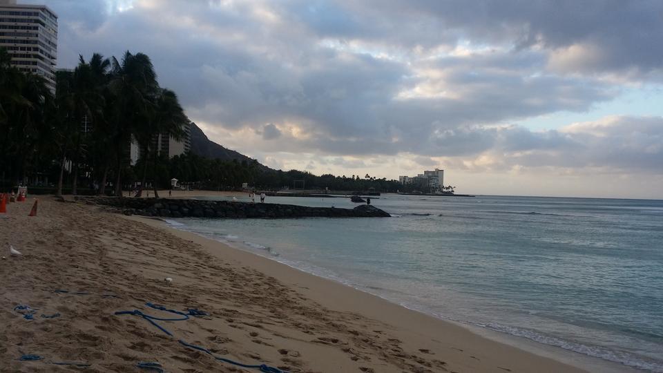 夏威夷檀香山。威基基海滩