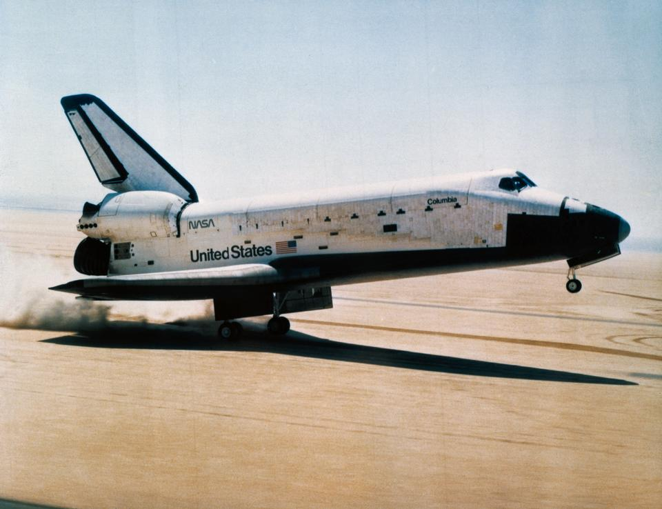 Landing of First Space Shuttle Mission