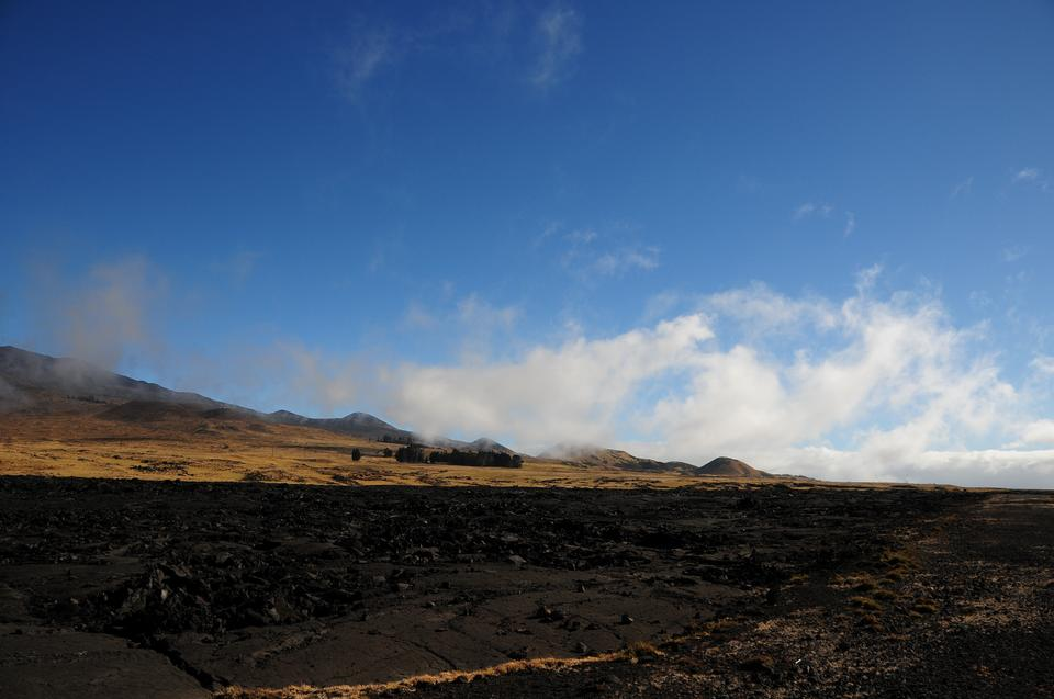the peak of Mauna Kea volcano, Hawaii