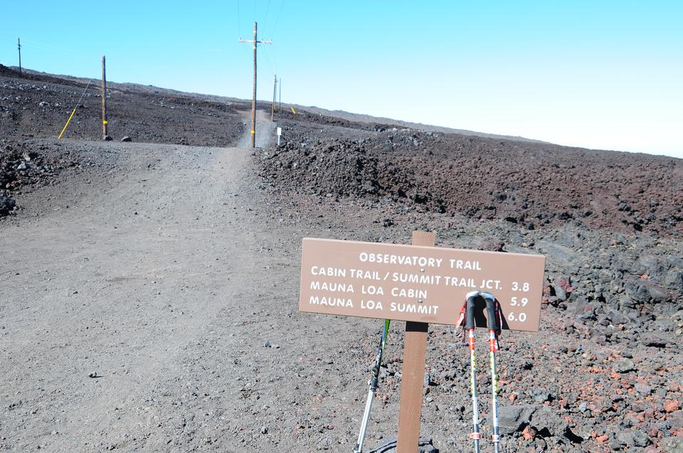 the peak of Mauna Kea volcano, Hawaii