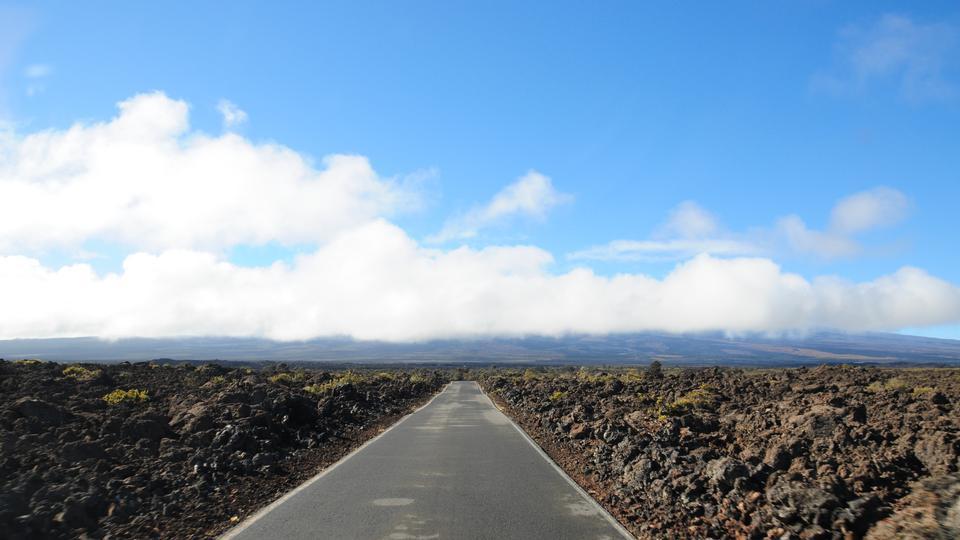 el pico del volcán Mauna Kea, Hawaii