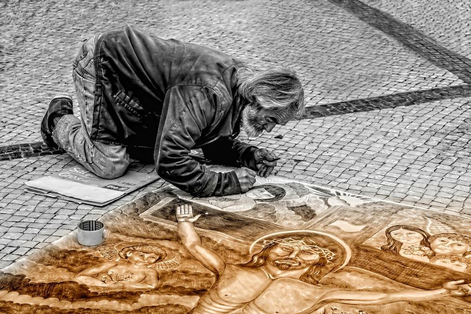 oilpaintsと現代アーティストの絵画の風景