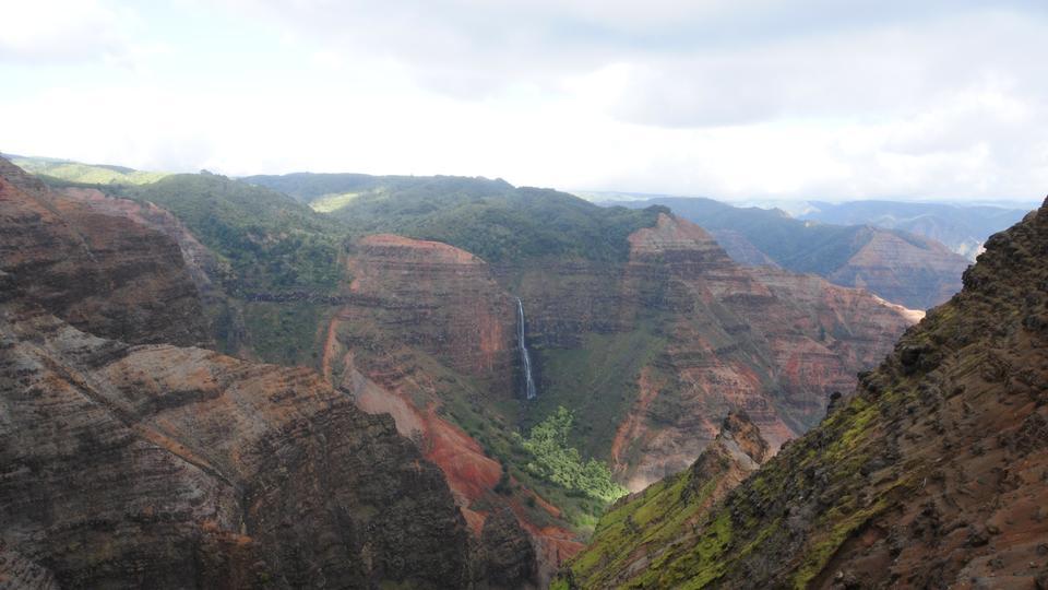 Overlooking Waimea Canyon State Park on the island of Kauai