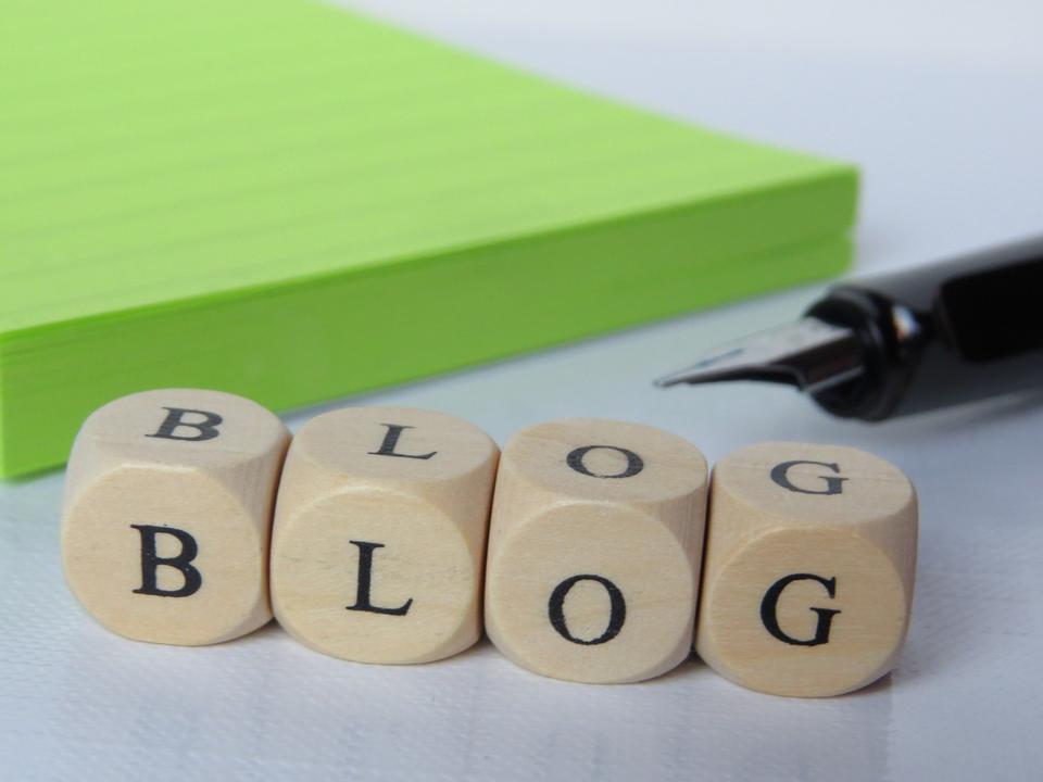 concepto de palabra blog