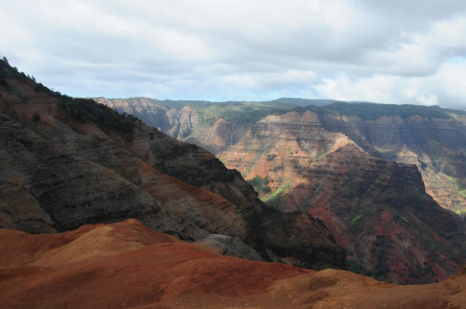Overlooking Waimea Canyon State Park on the island of Kauai