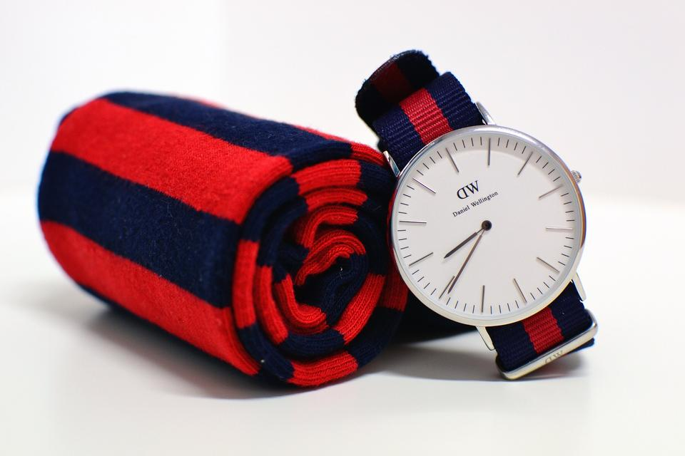 Same pattern watch and scarf